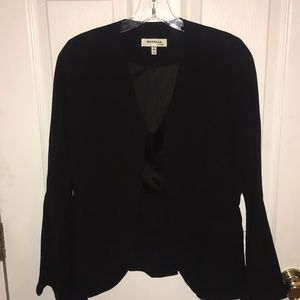 Black Blazer with Flare Sleeves